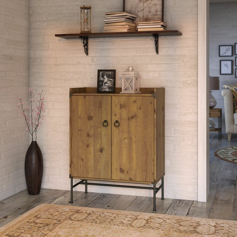Kathy Ireland Home by Bush Furniture Ironworks Bar Cabinet