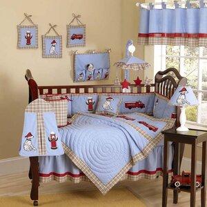 Frankie's Firetruck 9 Piece Crib Bedding Set