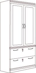 Belmont 2 Door Storage Cabinet by Flexsteel Contract