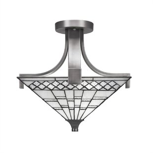 Loon Peak Eurig 2-Light Semi-Flush Mount