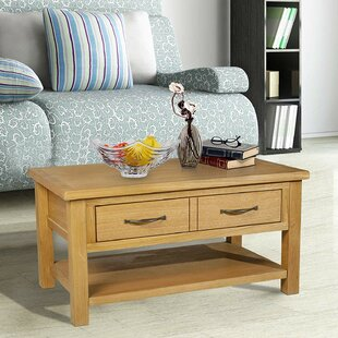 Weiland Oak Coffee Table with Storage by Red Barrel Studio