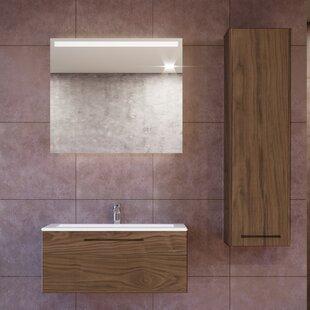 Pruneda 40 Wall-Mounted Single Bathroom Vanity Set with Mirror by Brayden Studio