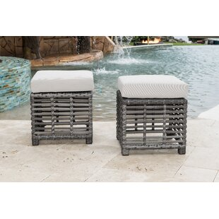 Panama Jack Outdoor Outdoor Ottoman with ..
