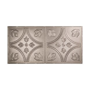 Traditional 5 2 ft. x 4 ft. Glue-Up Ceiling Tile in Galvanized Steel