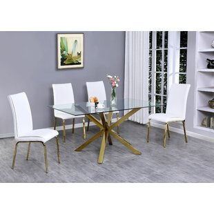 Vogt 5 Piece Extendable Dining Set