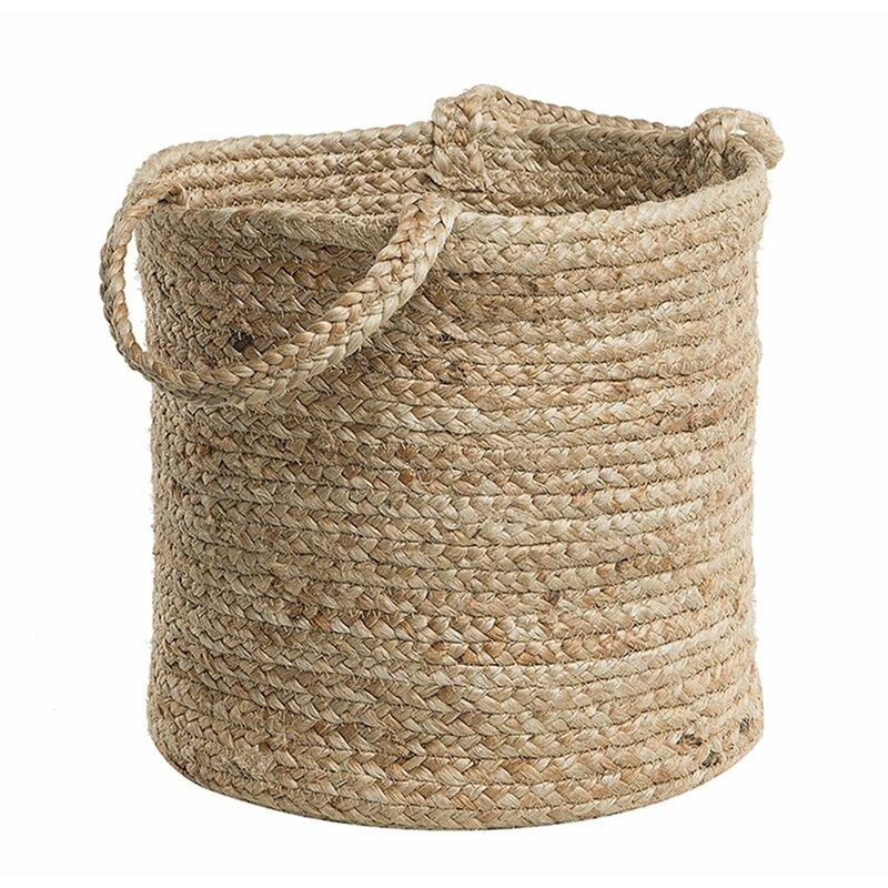 Jute Fabric Basket Bin