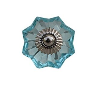 Faceted Octagonal Glass Novelty Knob