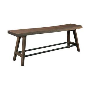 Atilia Wood Bench by Bungalow Rose