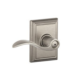 Accent Lever with Addison Trim Bed and Bath Lock by Schlage