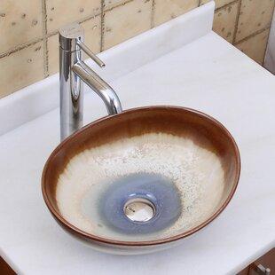 Elite Ceramic Oval Vessel Bathroom Sink Elimaxs