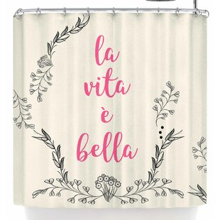 East Urban Home Famenxt Life Is Beautiful Vintage Shower Curtain