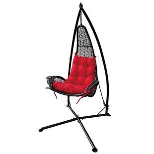 Rojo Wicker Swing Chair by Brayden Studio