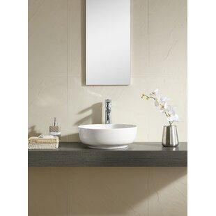 Fine Fixtures Ceramic Circular Vessel Bathroom Sink