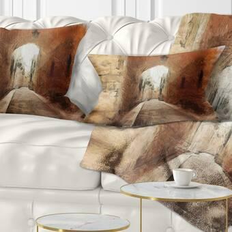 East Urban Home Robot Throw Pillow Wayfair