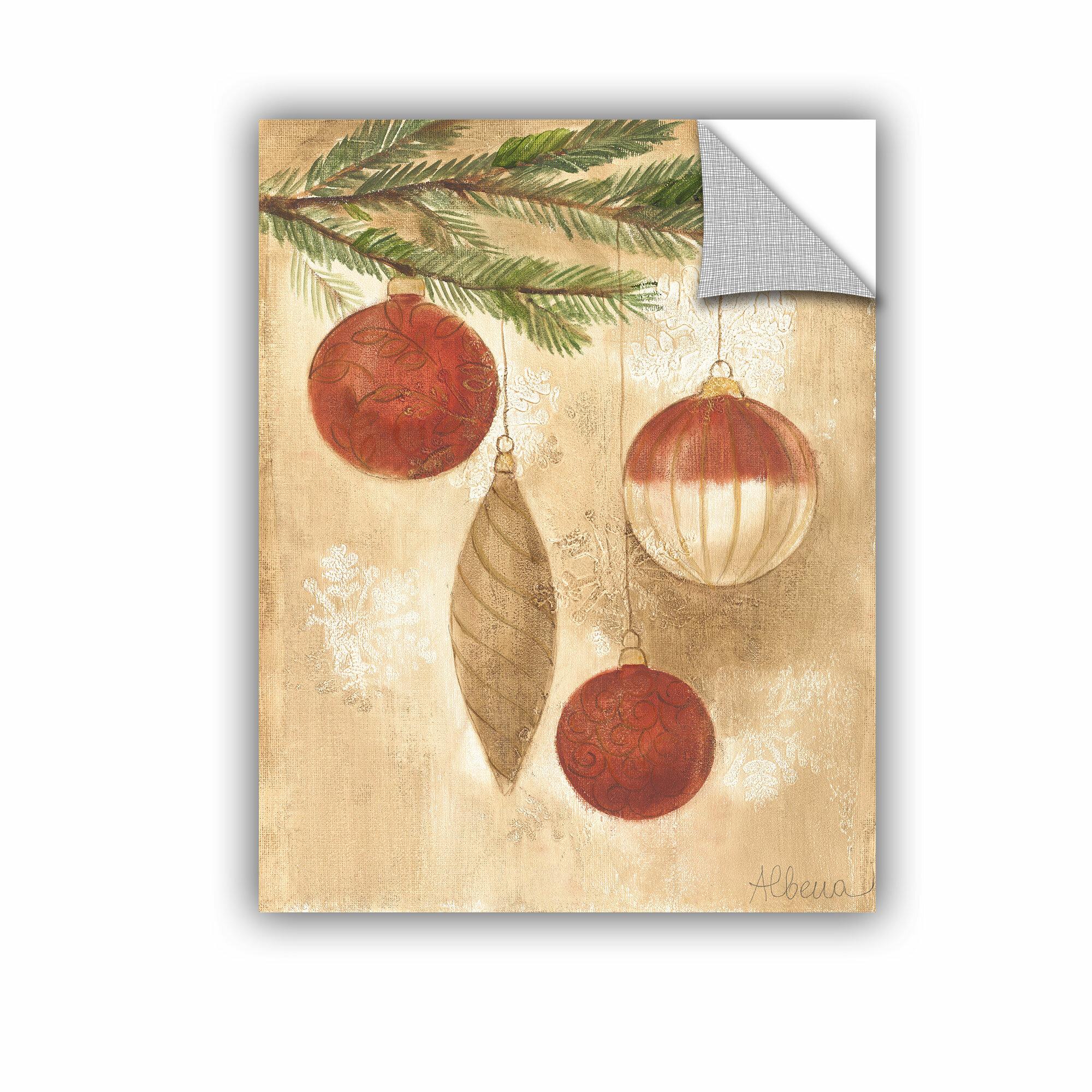 Artwall Albena Hristova Christmas Ornaments Wall Decal Wayfair