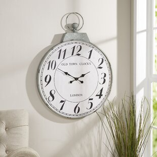 Comparison Oversized Timepiece 27 Wall Clock by Birch Lane™