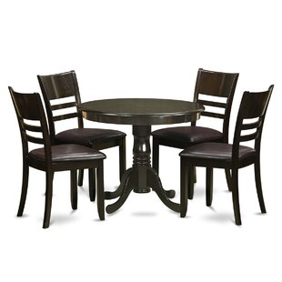 5 Piece Dining Set by Wooden Importers Design