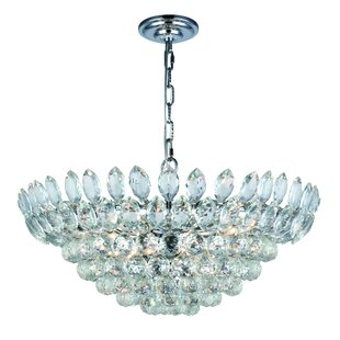 Rosdorf Park Glendora 11-Light LED Crystal Chandelier