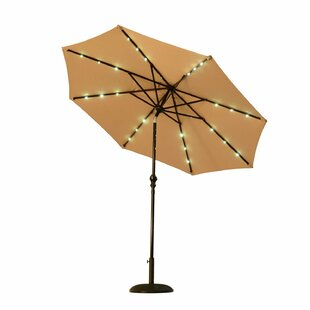 Eleonore Lighted 9' Market Umbrella by Darby Home Co Sale