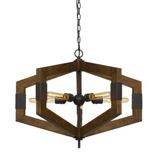 Troncoso 5-Light Geometric Chandelier by Williston Forge