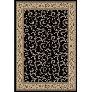 Jewel Veronica Black Floral Area Rug