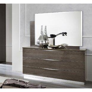 Corinth Birch 3 Drawer Dresser with Mirror