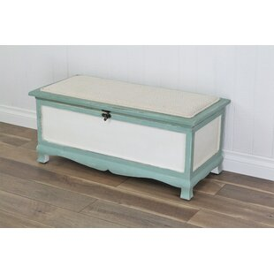 Atka Wood Storage Bench by Beachcrest Home
