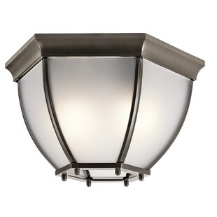 Outdoor flush mount lights youll love sonoma 2 light outdoor flush mount workwithnaturefo