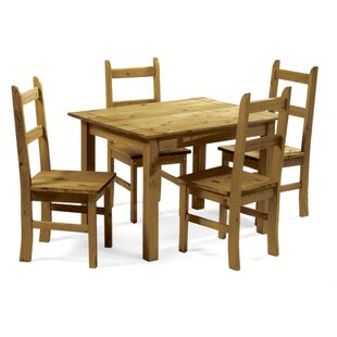 Peru Dining Set with 4 Chairs by All Home