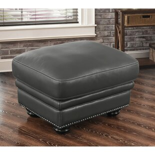 Darby Home Co Fairdale Leather Ottoman