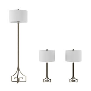 Platteville 3 Piece Table and Floor Lamp Set
