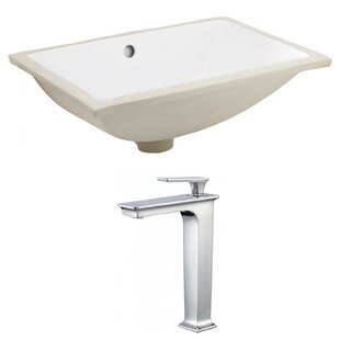 American Imaginations Ceramic Rectangular Undermount Bathroom Sink with Fa..