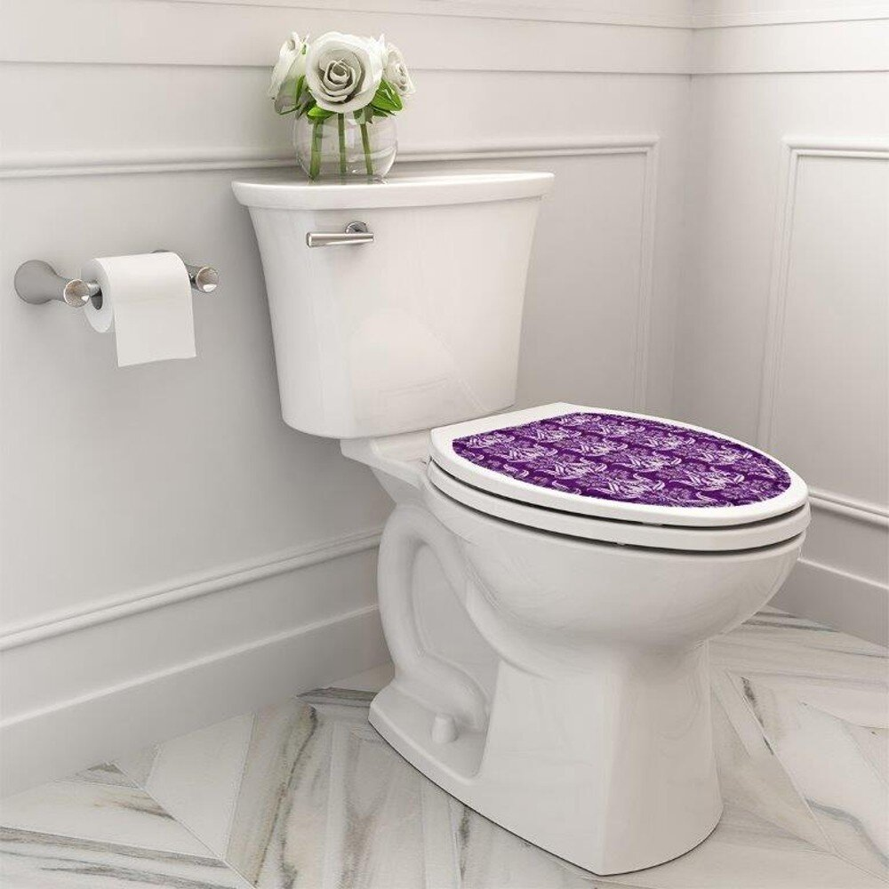 Toilet Tattoos Seat Decal Sticker Home DIY Sticker for Toilet Lid 39x32cm #7