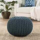 Spectrum Solid Cotton Pouf Ottoman by Jaipur Living