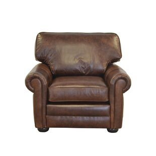 Westland and Birch Fenway Studio Genuine Top Grain Leather Club Chair