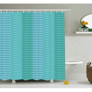 Celestine Digital Stripes Lines Shower Curtain + Hooks