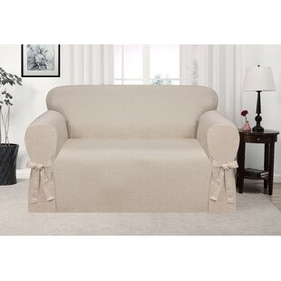 Box Cushion Loveseat Slipcover By Ophelia & Co.