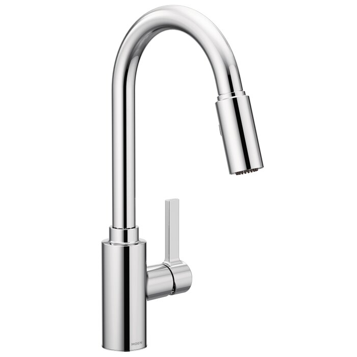 Moen Genta Single Handle Pulldown Kitchen Faucet with Power Clean ...