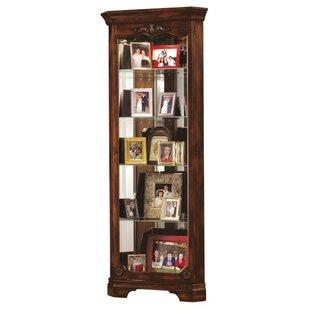 Brito Lighted Corner Curio Cabinet