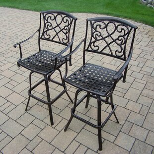 Ericka Patio Bar Stool (Set of 2)