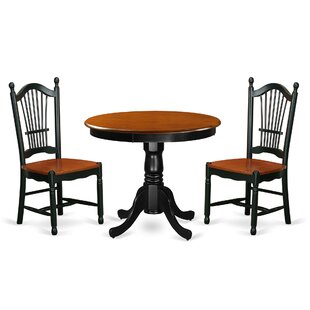 Jeffrey 3 Piece Dining Set by August Grove