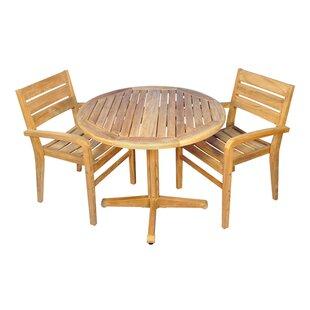 Savannah 3 Piece Indoor/Outdoor Dining Set ByRegal Teak ...