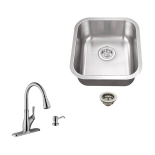 18 X 16 13 Undermount Bar Sink With Gooseneck Faucet By Soleil