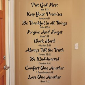 Bible Family Rules Wall Quotesu2122 Decal