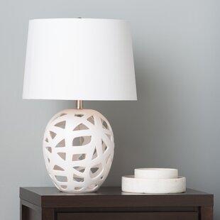 Buy luxury Crook Open Work Bisque 26 Table Lamp By Brayden Studio