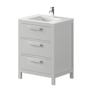 Nakagawa Solid Pine 600mm Free-standing Single Vanity Unit By 17 Stories