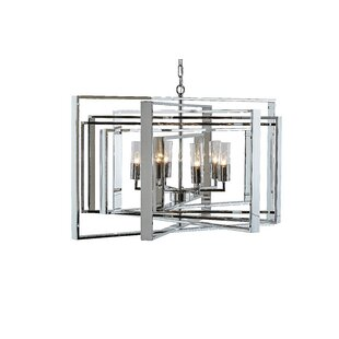 Ikon Vinci 5-Light Geometric Chandelier by Sunpan Modern