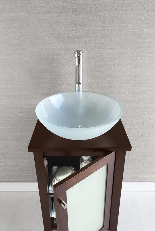 """Bathroom Vanities Okc ronbow cami 18"""" bathroom vanity base cabinet in dark cherry"""