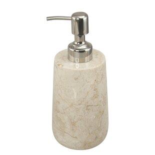Gracie Oaks Farnham Natural Marble Lotion Dispenser