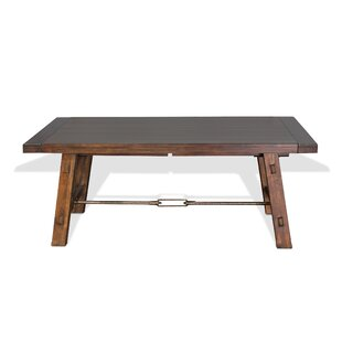 Hardin Extendable Solid Wood Dining Table by Loon Peak Reviews